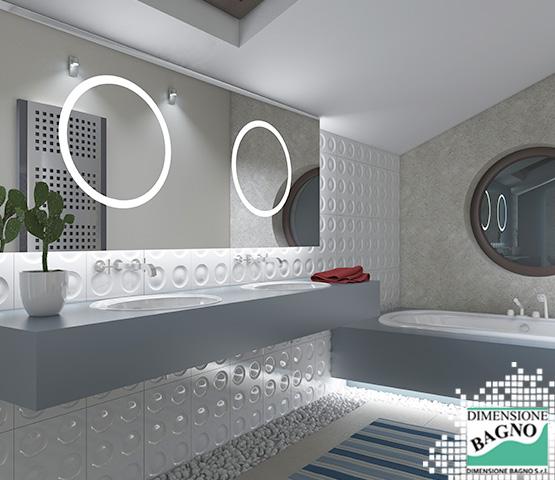 Per un arredamento bagno optare per rivestimenti grigi