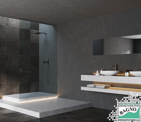 L'eleganza del nero nelle piastrelle bagno