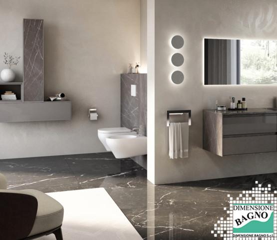 Bagni e materiali: il marmo per mobili e rivestimenti