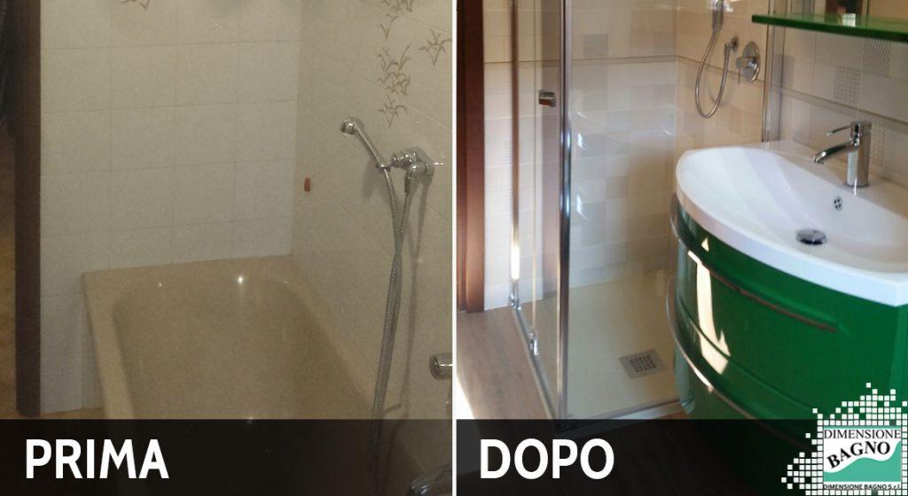 ristrutturazione bagno con box doccia