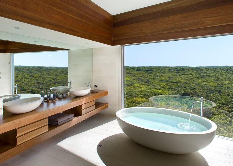 Design bagno Southern Ocean Lodge, Australia