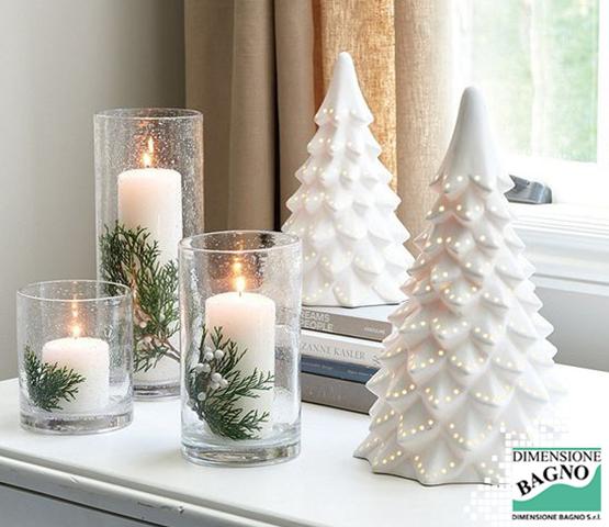 La luce arreda il tuo bagno, soprattutto a Natale