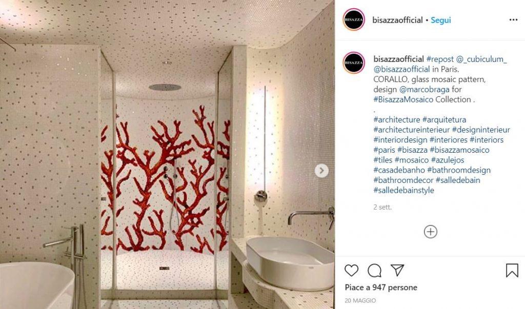 Guarda un semplice mosaico che effetti può regalare al tuo bagno @bisazzaofficial