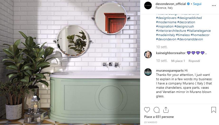 Piante in bagno e mobili Devon&Devon