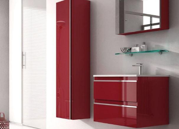 Ideagroup, mobili bagno in rosso
