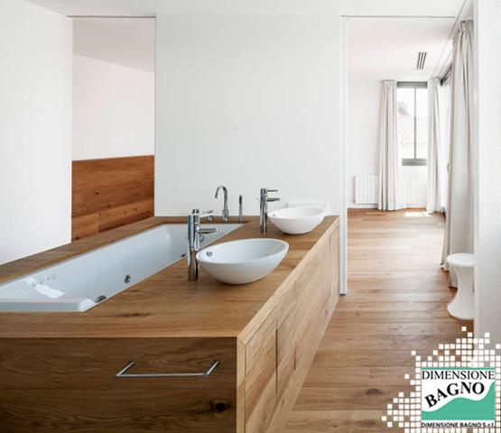 Bagni e materiali: il legno