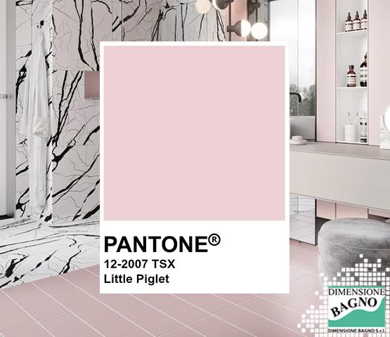 Pantone Little Piglet, come usarlo nel bagno